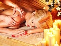 Woman getting  massage . Stock Photos