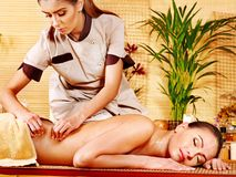 Woman getting  massage . Royalty Free Stock Image