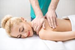 Woman getting a massage Royalty Free Stock Photo
