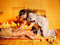 Woman getting  massage . Royalty Free Stock Images