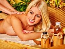 Woman getting  massage Stock Image