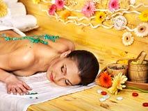 Woman getting  massage . Royalty Free Stock Photo