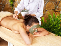 Woman getting massage in spa. Royalty Free Stock Photos
