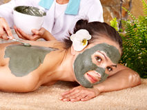 Woman getting massage in spa. Stock Image