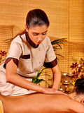 Woman getting  massage Royalty Free Stock Image
