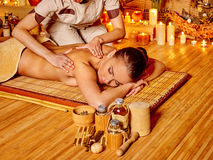 Woman getting  massage Royalty Free Stock Photography