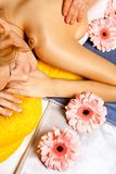 Woman getting a massage in spa salon Royalty Free Stock Photo