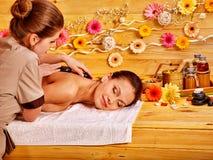 Woman getting  massage Royalty Free Stock Image