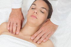 Woman getting massage Royalty Free Stock Photos