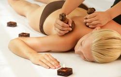 Woman getting pinda massage Royalty Free Stock Images