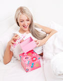 Woman getting presents Stock Photography