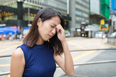 Woman getting sick at outdoor. Young Woman getting sick at outdoor stock photos
