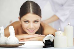 Woman getting spa massage Royalty Free Stock Photo