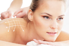 A woman getting spa massage treatment Royalty Free Stock Photography
