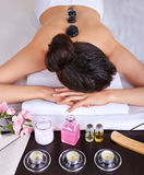 Woman getting spa massage Stock Photo