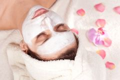 Woman getting spa procedures Royalty Free Stock Images