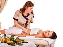 Woman getting spa therapy outdoor Royalty Free Stock Photography