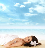 Woman getting spa treatment Stock Images