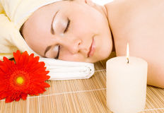 Woman getting the spa treatment Stock Photography
