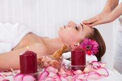 Woman getting spa treatment Royalty Free Stock Images