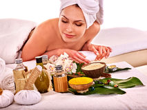 Woman getting spa treatment outdoor Royalty Free Stock Photo