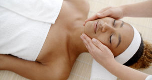 Woman Getting Spa Treatment Royalty Free Stock Photo