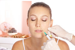 Woman getting wrinkle treatment Stock Image