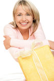 Woman with gift Stock Image