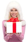 Woman gift Royalty Free Stock Image