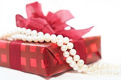 Woman gift Stock Image