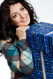 Woman with gift box Stock Photo