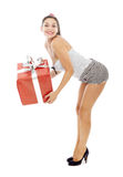 Woman gift valentine's day Stock Photography
