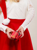 Woman with gifts. Christmas. Stock Photography