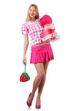 Woman with gifts Stock Images