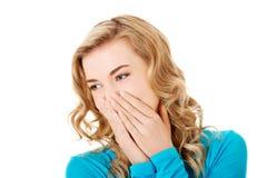 Woman giggles Stock Photos
