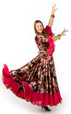 Woman in gipsy dance Royalty Free Stock Photography