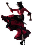 Woman gipsy flamenco dancing dancer Royalty Free Stock Images