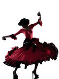 Woman gipsy flamenco dancing dancer Stock Photography