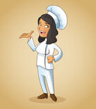 Woman girl chef kitchen restaurant design Stock Image