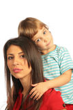 Woman and girl tired Stock Photo