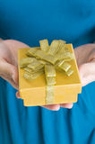 Woman Give Present Royalty Free Stock Image