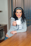 Woman give you a cup of coffee Royalty Free Stock Photography