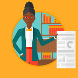 Woman giving business presentation. Royalty Free Stock Photo