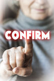 Woman is giving confirmation Royalty Free Stock Photo