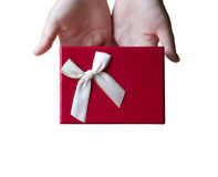 Woman giving gift. Stock Image