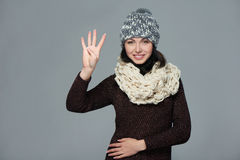 Woman giving high five gesture Royalty Free Stock Photography