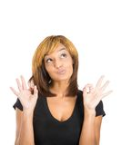 Woman giving OK sign Royalty Free Stock Photo