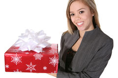 Woman Giving Present Royalty Free Stock Photo