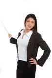Woman giving presentation Royalty Free Stock Image
