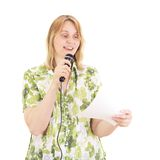 Woman giving a presentation Stock Photos